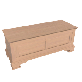 Oak Provencal Blanket Box