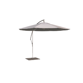 Freestanding Wind-Up Parasol, Natural