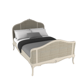 Rose Bedstead, Double, Ivory
