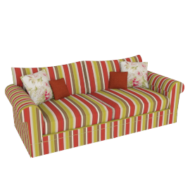 Burghley Grand Sofa, Delaney Stripe