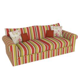 Burghley Grand Sofa, Delaney Stripe