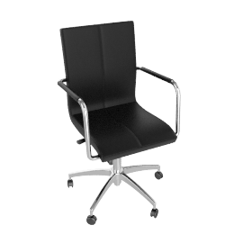 Turin Office Chair, Black