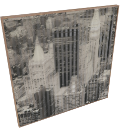 Empire View Framed 3D Art - 80x3.5x80 cms
