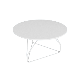 Polygon Wire Table - Medium, White