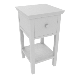 Wilton Bedside Tables, White