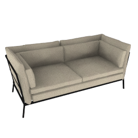Cappellini Basket 011 Two Seater Sofa