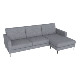 Brunel Corner Right Chaise, Murcia Grey