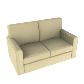 Scoop Sofa Bed, Mushroom