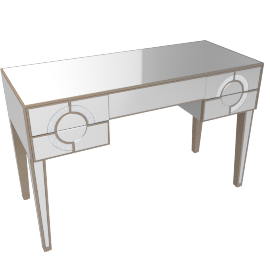 Mystique 5 Drwr Dressing Table-Champagne/Mirror