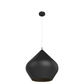 Tom Dixon Beat Light Stout, black/brass