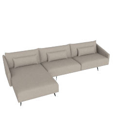 Costura Sectional with Chaise, Flax, Linen Weave