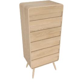 Esme tall chests of drawers, ash