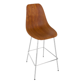 Eames Molded Wood Barstool