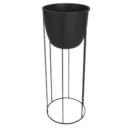 Wire Planter Large, Black