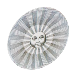 suns & moons plates by fornasetti