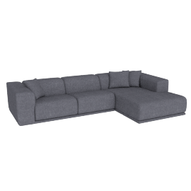 Kelston Sectional with Chaise, Fabric: Pebble Weave Pumice