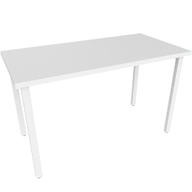 "Everywhere Rectangular Table 24"" x 48"", White Leg White Finish"
