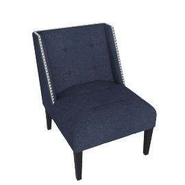 Pitt Studded Arm Chair