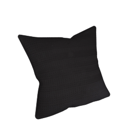 Eternity Cushion Cover - 45x45 cms, Black