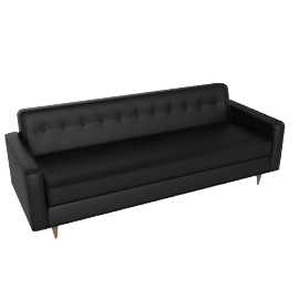 "Bantam 86"" Sofa in leather, Black"
