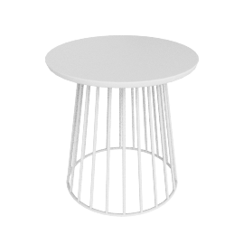 Mesh Side Table, White
