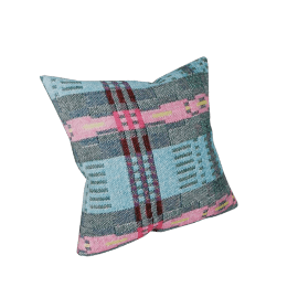 Bora Da Square Pillow - Blue.Grey