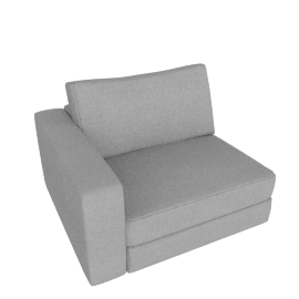 Reid One-Arm Chair Left, Ducale Wool - Light Grey