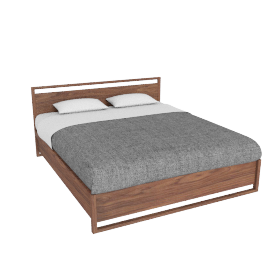 Matera Bed With Storage - Cal King - Walnut