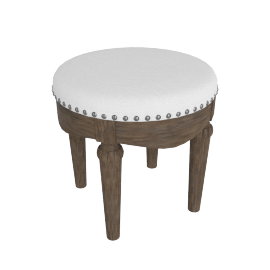 Lexington Stool-Dark Grey/White