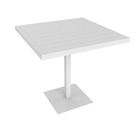 Eos Cafe Table, White