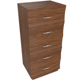 Scoop Chest Of 5 Drawers-Walnut