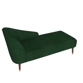 Margot RHF Chaise, Forest Green Velvet