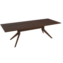 Cross Extension Table, Walnut