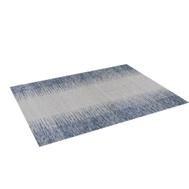Ikat Dhurrie - 120x160 cms, Blue