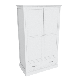 Little Sweetie Nursery 2-Door Wardrobe, White