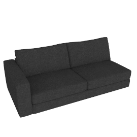Reid One-Arm Sofa in Fabric, Left