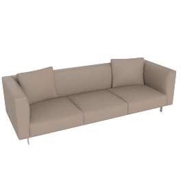 Bilsby Sofa in Kalahari Leather, Grey