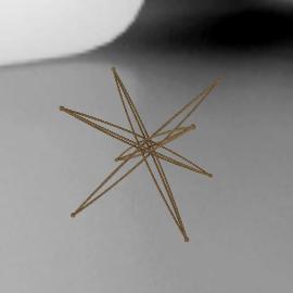 """4.5"""" Tetraxis® Star - Bronze"""