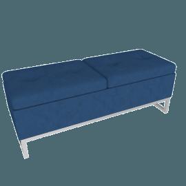 Viera Ottoman Storage Bench, Blue