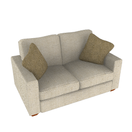 Gino Small Sofa, Natural