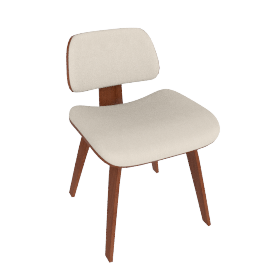 Eames Upholstered Molded Plywood Dining Chair (DCW)