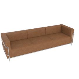 LC3 Grand Modele Three Seat Sofa