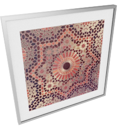 Copper Mosaic Framed Art 60X2.5X60 Cm-Multicolor