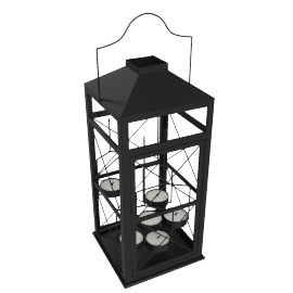 Facet Lantern, Black