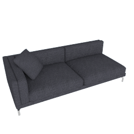 Como One-Arm Sofa in Fabric, Left, Pebble Weave Pumice