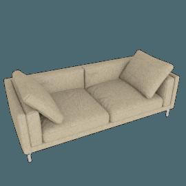 Como 92'' Sofa, Ducale Wool Tumbleweed