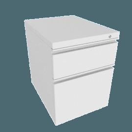 Tu W-Pull Mobile Pedestal, White