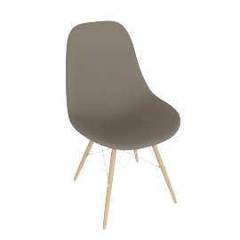 Eames® Molded Plastic Dowel Leg Side Chair-DSW
