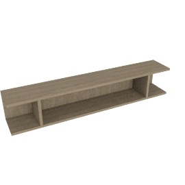Match 120cm Floating Shelf Unit, Grey Ash
