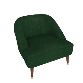 Margot Accent Chair, Forest Green Velvet